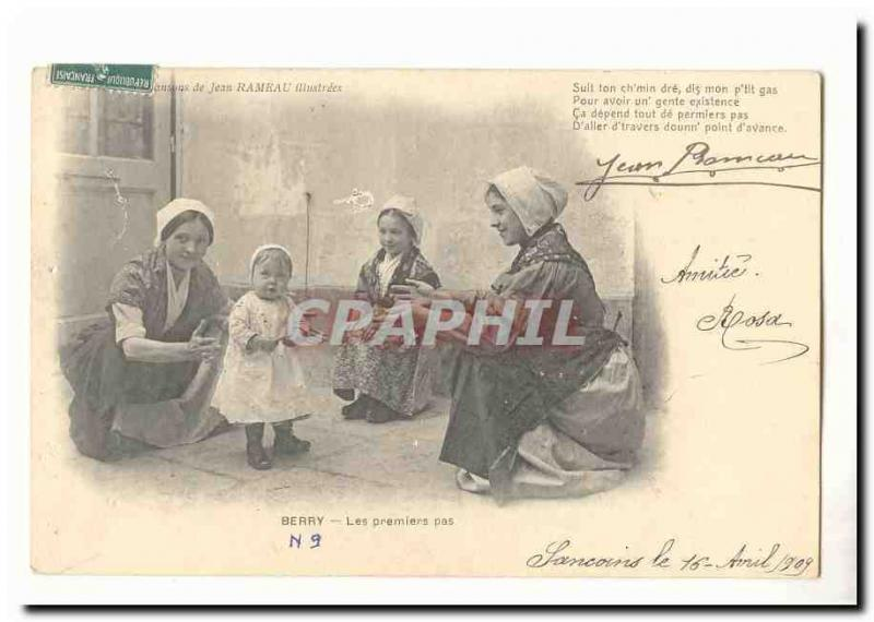 Songs of Jean branch Vintage Postcard the first steps (child)