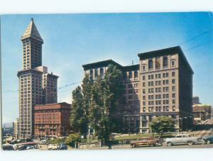 Pre-1980 OLD CARS & COURT HOUSE Seattle Washington WA n4404