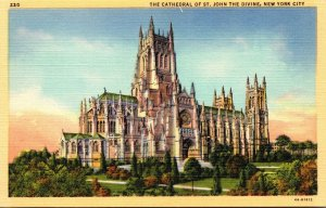 New York City The Cathedral Of John The Devine 1947 Curteich
