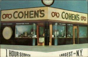 Jewish Eyeglasses Store Cohen's Optical Co New York City Orchard St. Postcard