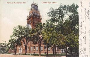 Exterior, Harvard Memorial Hall, Cambridge,  Massachusetts,  PU_1905