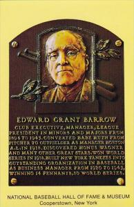 Edward Grant Barrow National Baseball Hall Of Fame & Museum Cooperstown New York