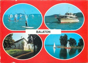Postcard Hungary Balaton lake multi view