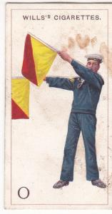 Cigarette Card  Wills Signalling Series No. 15 Letter O