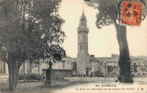 France Evreux - La Tour de l'Horloge, vue du Square du Théátre 02.52