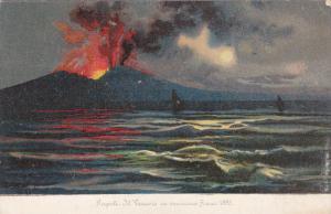 NAPOLI, Mt. Vesuvio in eruzione Anno 1895, Campania, Italy, 00-10s