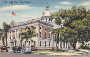 Florida Bartow Polk County Court House 1947 Curteich