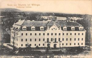 Trebon Czech Republic Wittingau Chlumetz Exterior Antique Postcard K21987