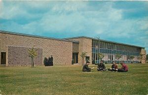 Canton Ohio~Walsh College~Christian Instruct~Students Cross-Legged on Lawn~1960s