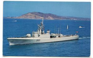 HMCS Yukon DDE-263 Anti Submarine Destroyer Canadian Navy Ship Canada postcard