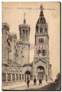 Fourvières Old Postcard L & # 39ancienne Lyon Chapel