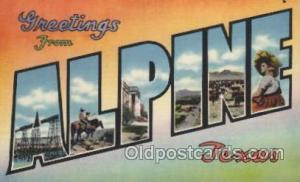 Alpine, Texas, Usa Large Letter Towns Postcard Postcards  Alpine, Texas, USA