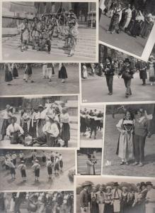 International Folk Dance Festival London 1935 Europe dancers costumes rppc x 13