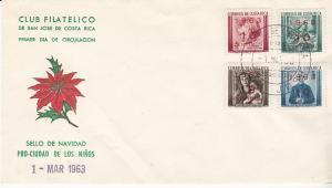 Costa Rica #262-265 FDC