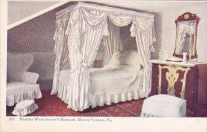 Martha Washington's Bedroom Mount Vernon Virginia
