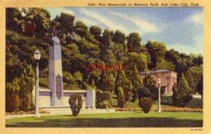 WAR MEMORIALS IN MEMORY PARK SALT LAKE CITY, UT