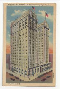 Greensboro NC Jefferson Standard Life Insurance Company Building Postcard