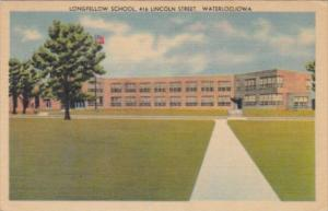 Iowa Waterloo Longfellow School Lincoln Street 1945