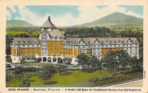 Hotel Roanoke Virginia 1930s postcard