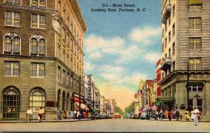 North Carolina Durham Main Street Looking East Curteich
