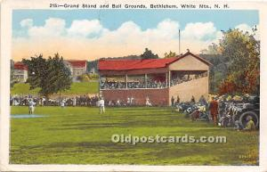 Grand Stand and Ball Grounds, Bethlehem White Mountains, NH, USA Stadium 1937