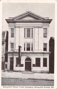 Schuykill Haven PA Colonial Architecture Trust Company Bank~Brick Street 1920s