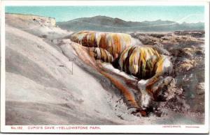 Cupid's Cave, Yellowstone Park WY Vintage Postcard J15