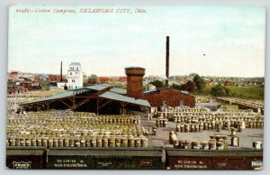Oklahoma City~Cotton Compress~Early Brewery~Tall Building~Frisco Lines RR~c1910