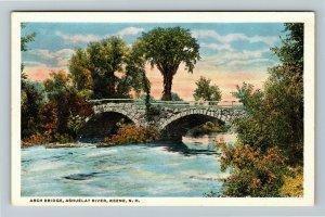 Keene NH-New Hampshire Arch Bridge, Ashuelat River, Vintage Postcard