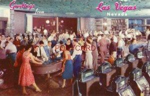 1963 GREETINGS FROM LAS VEGAS, NEVADA - THE HOTEL FLAMINGO CASINO