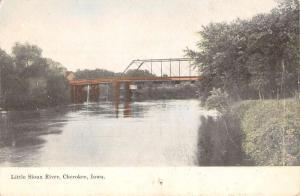 Cherokee Iowa Little Sioux River Waterfront Antique Postcard K83016