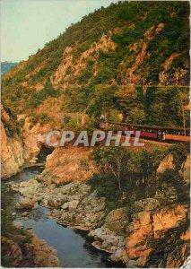 Postcard Modern Landscapes Vivarais Gorges du Doux Train