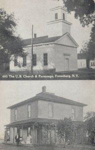 FREWSBURG , New York , 1909 ; U.B. Church & Parsonage