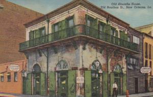 Louisiana New Orleans Old Absinthe House 234 Bourbon Street Curteich