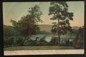 A Vista on the Delaware River Dingmans Ferry Pa 1908 A.L. Albright Co K2689