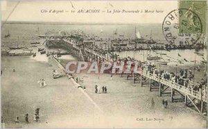 Old Postcard Arcachon Silver Riviera La Jetee Promenade a Maree Basse