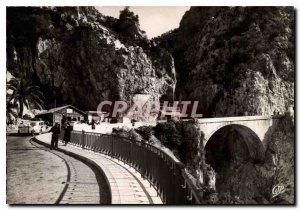 Postcard Frontiere Franco Italian Moderne Menton the Pont Saint-Louis