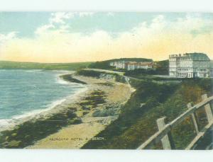 Unused Divided Back FALMOUTH HOTEL - Falmouth - Cornwall England UK hr9271