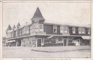 Maine Old Orchard Beach Forest Pier Hotel & Egyptian Bazaar 1908 sk1454