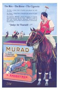 Vintage Reproduction Postcard, Murad - The Turkish Cigarette Advertisement #812