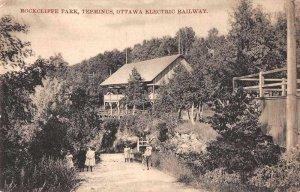 Ottawa Canada Rockcliffe Park Electric Railway Station Vintage Postcard AA4092