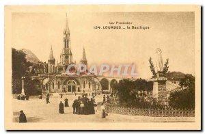 Old Postcard The Pyrenees Lourdes Basilica