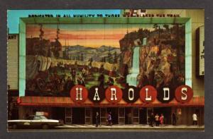 NV Harolds Club Casino Mural RENO NEVADA Postcard PC