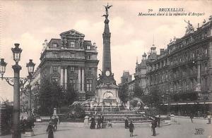 Bruxelles Belgium, Belgique, Belgie, Belgien Monument eleve a la memoire d'An...
