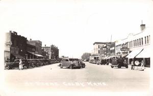 Colby Kansas~Main Street~Louis Garage~Mobilgas~JC Penney~Bakery~Cars~1941 RPPC
