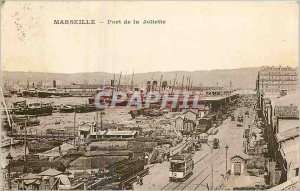 Old Postcard Marseille port of Joliette Charter