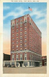 Fort Smith Arkansas~The Ward Hotel~Vintage Cars~1930s Postcard