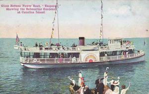 Glass Bottom Power Boat, Emperor, Showing The Submarine Gardens, Catalina I...