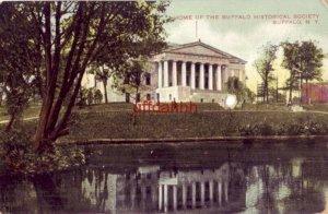 HOME OF THE HISTORICAL SOCIETY, BUFFALO NY note on back dated Xmas greeting 1908