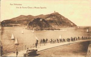 Spain San Sebastian Isla de Santa Clara y Monte Igueldo 02.14